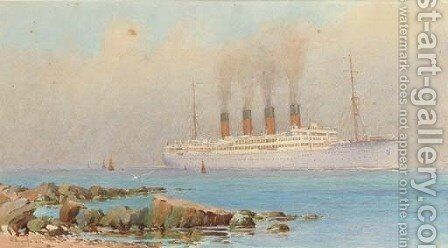 Arundel Castle in the Solent off the Isle of Wight by Alma Claude Burlton Cull - Reproduction Oil Painting