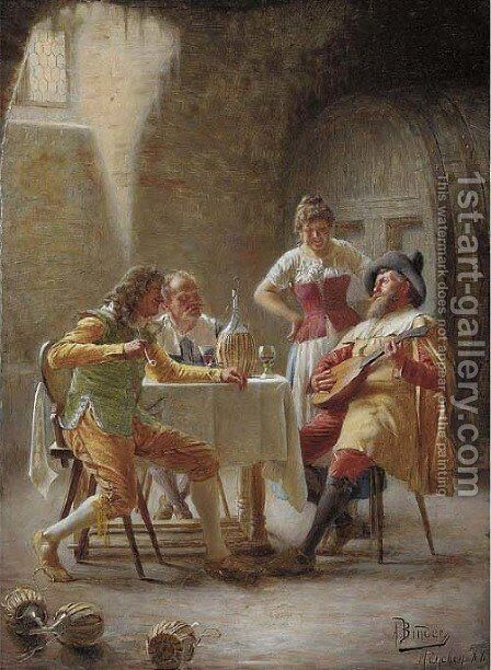 A charming melody by Alois Binder - Reproduction Oil Painting