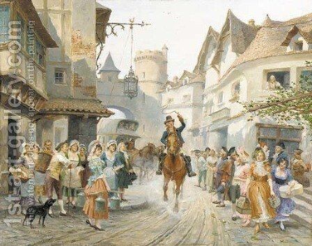 The arrival by Alonso Perez - Reproduction Oil Painting