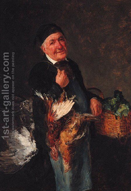 Off to Market by Alfons Spring - Reproduction Oil Painting