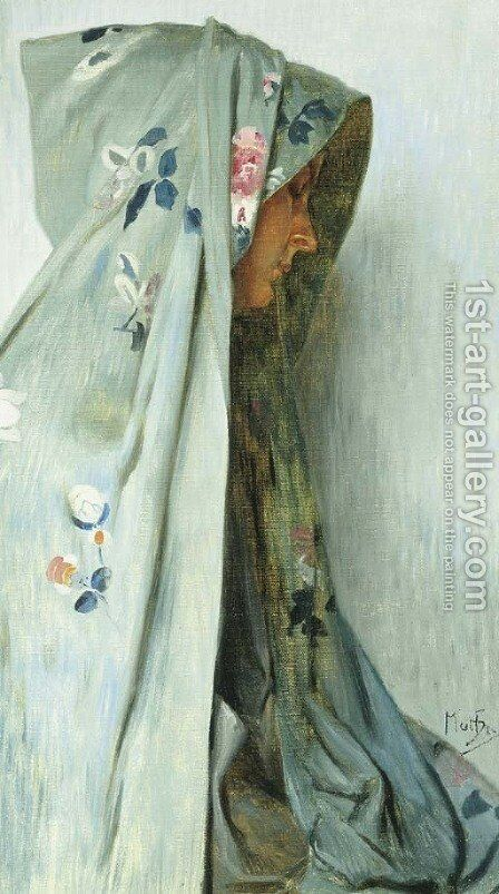 Solitude by Alphonse Maria Mucha - Reproduction Oil Painting
