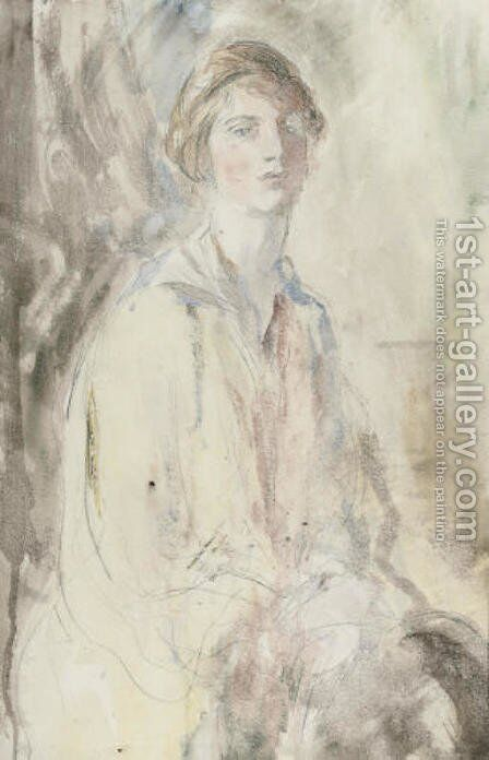 Barbara by Ambrose McEvoy - Reproduction Oil Painting