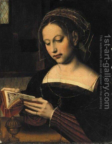 Saint Mary Magdalen reading by Ambrosius Benson - Reproduction Oil Painting