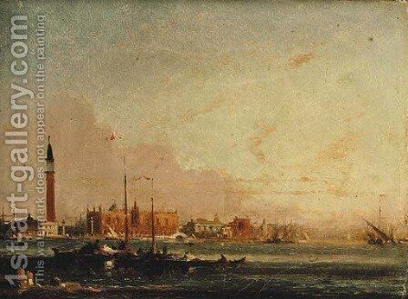 Venice from the Lagoon by Amédée Rosier - Reproduction Oil Painting