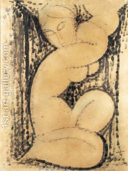 Cariatide by Amedeo Modigliani - Reproduction Oil Painting