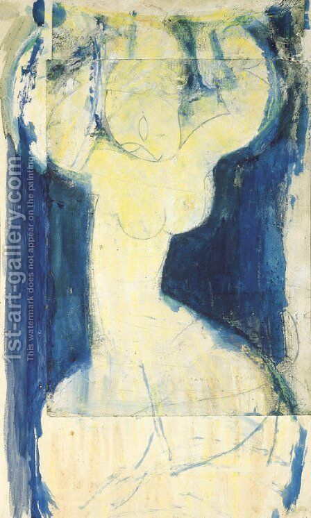 La grande caryatide by Amedeo Modigliani - Reproduction Oil Painting