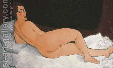 Nu couche by Amedeo Modigliani - Reproduction Oil Painting