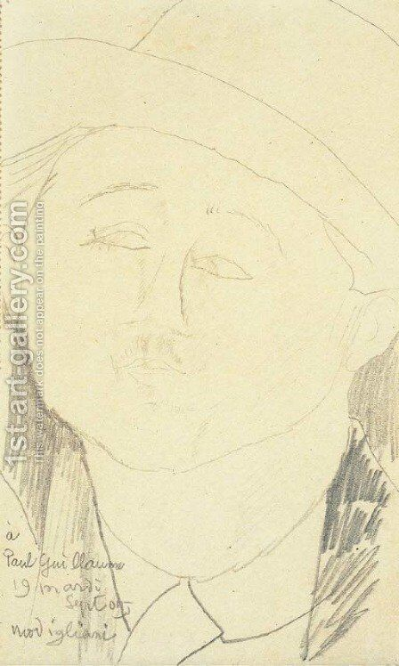 Portrait de Paul Guillaume by Amedeo Modigliani - Reproduction Oil Painting