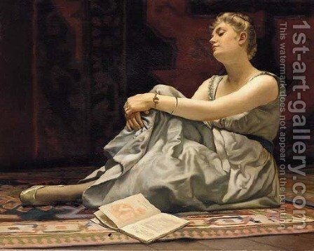 Idle Thoughts by American School - Reproduction Oil Painting