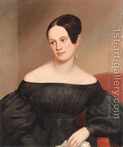 A Lady by American School - Reproduction Oil Painting