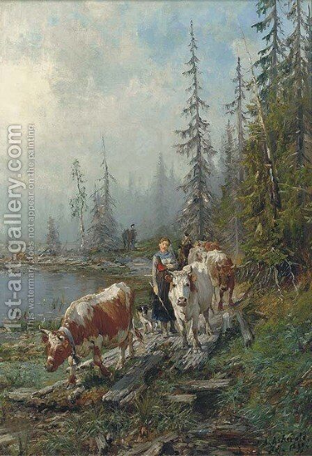 The journey home by Anders Monsen Askevold - Reproduction Oil Painting