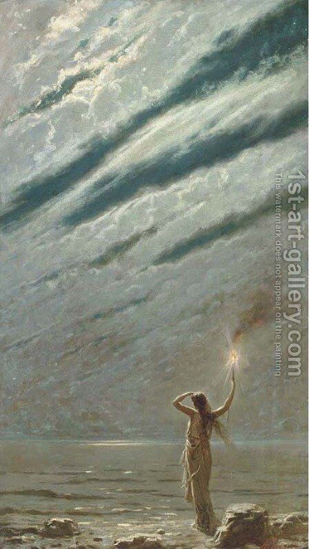 The guiding light by Andrea Fossati - Reproduction Oil Painting