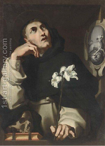 Saint Dominic by Andrea Lilio - Reproduction Oil Painting