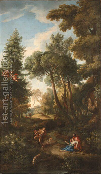 Cephalus and Procris by Andrea Locatelli - Reproduction Oil Painting