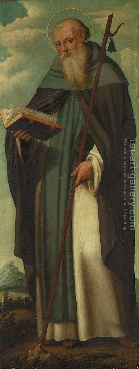 Saint Anthony Abbot by Andrea Sabatini - Reproduction Oil Painting