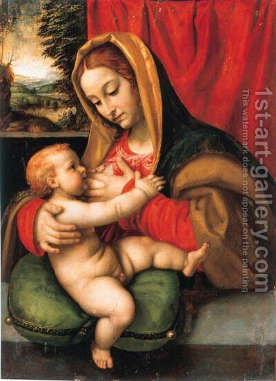 The Madonna and Child by Andrea Solario - Reproduction Oil Painting