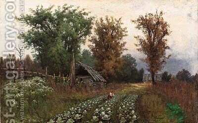 Summer Landscape by Andrei Nikolaevich Shilder - Reproduction Oil Painting