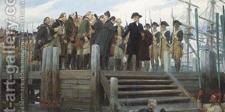 Washington's Farewell to the Army by Andrew Carrick Gow - Reproduction Oil Painting