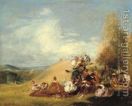 A fete-champetre by Andrew Geddes - Reproduction Oil Painting