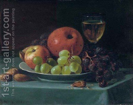 Still Life with Grapes, Walnuts and Apples by Andrew John Henry Way - Reproduction Oil Painting