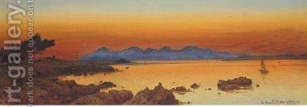 The Estrelles from Lac d'Antibes by Andrew MacCallum - Reproduction Oil Painting