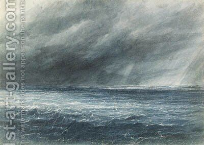 The Indian Ocean A squall by Andrew Nicholl - Reproduction Oil Painting