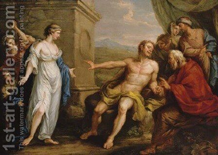 The Continence of Scipio Africanus by Angelica Kauffmann - Reproduction Oil Painting