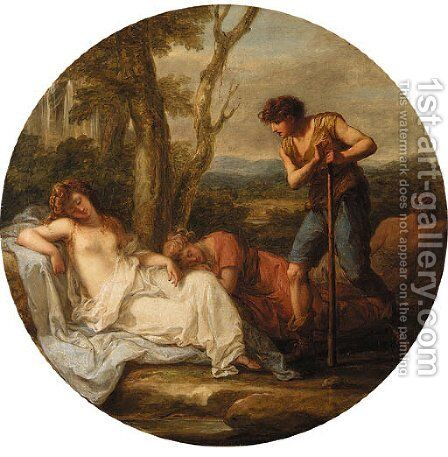 The Triumph of Venus by Angelica Kauffmann - Reproduction Oil Painting