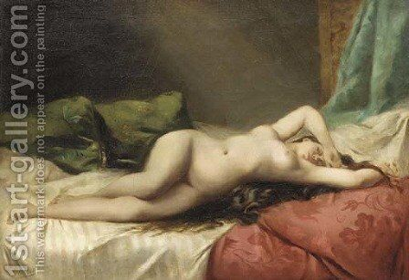 Nue a la libellule by Angelo Asti - Reproduction Oil Painting