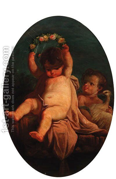Childrens by Angelo The Elder Vacca - Reproduction Oil Painting