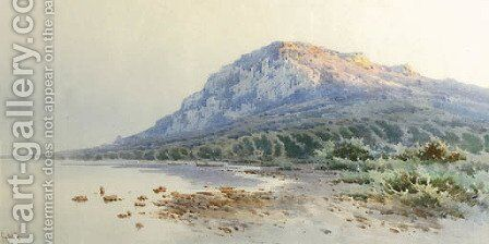 A rocky coastline by Angelos Giallina - Reproduction Oil Painting