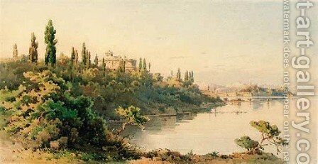 The coast of Corfu 2 by Angelos Giallina - Reproduction Oil Painting