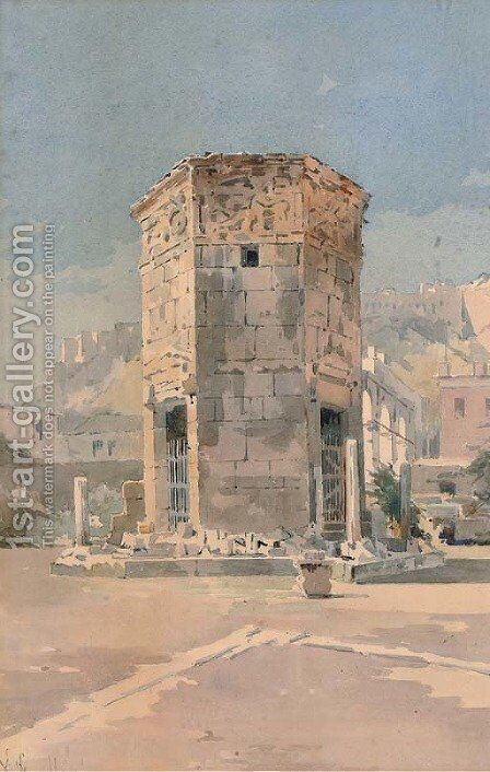 The Temple of the Winds at Athens by Angelos Giallina - Reproduction Oil Painting