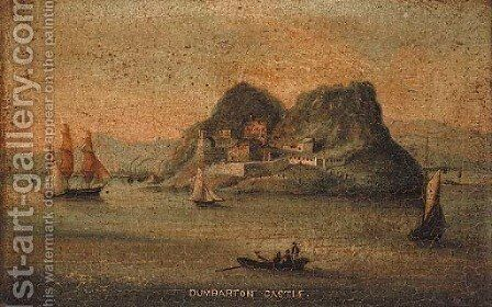 Dumbarton Castle by Anglo-Chinese School - Reproduction Oil Painting