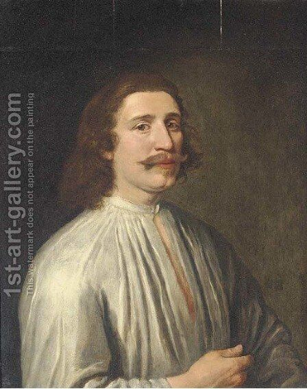 Portrait of a gentleman by Anglo-Dutch School - Reproduction Oil Painting