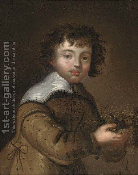 Portrait of a boy 2 by Anglo-Dutch School - Reproduction Oil Painting