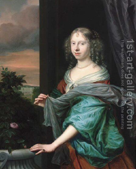 Portrait of a lady 3 by Anglo-Dutch School - Reproduction Oil Painting