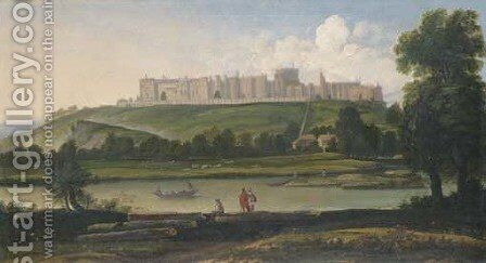 View Of The North Front Of Windsor Castle by Anglo-Dutch School - Reproduction Oil Painting