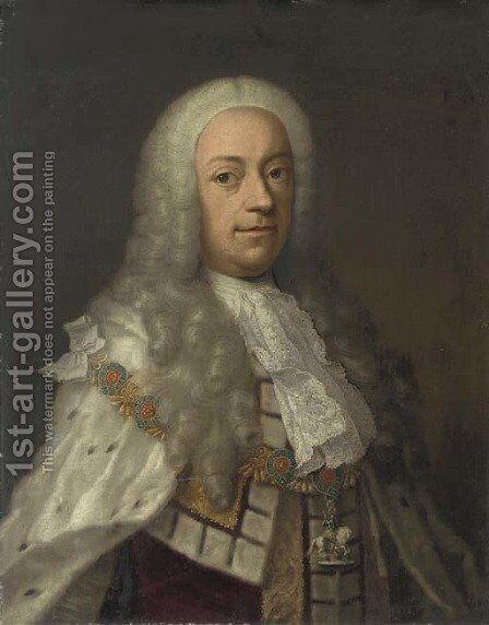 Portrait of King George II by Anglo-Hanoverian School - Reproduction Oil Painting