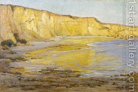 Golden Cliffs, Afternoon by Anna Althea Hills - Reproduction Oil Painting