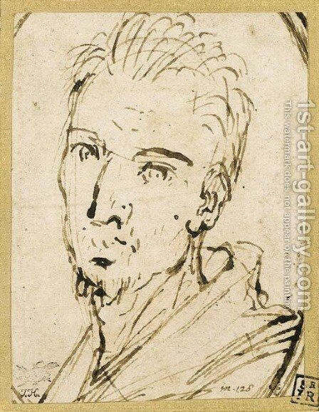 Self-portrait 4 by Annibale Carracci - Reproduction Oil Painting