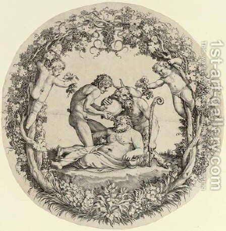 The Drunken Silenus by Annibale Carracci - Reproduction Oil Painting