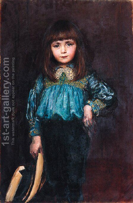 Portrait of a girl by Annie Louise Swynnerton - Reproduction Oil Painting