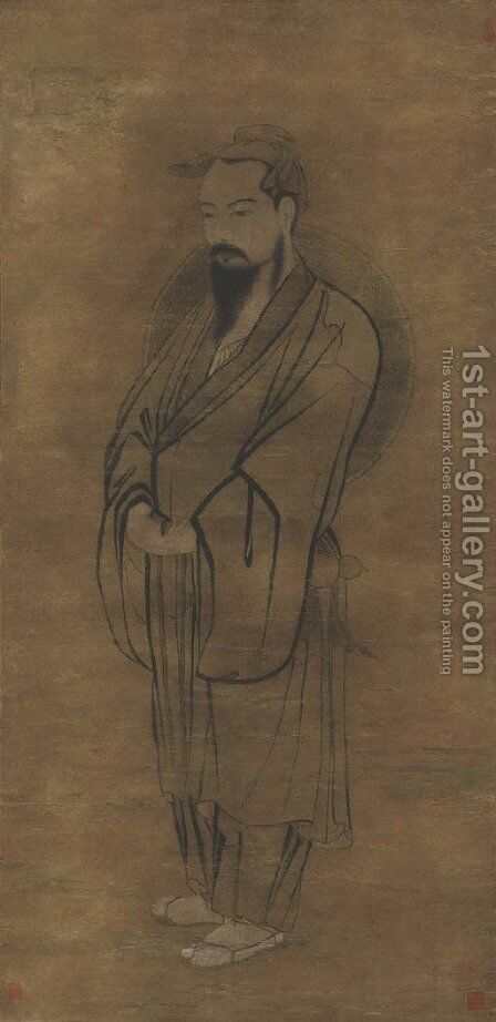 Taoist Deity by Anonymous Artist - Reproduction Oil Painting