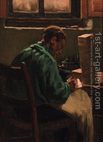 The tile painter by Anthon Gerhard Alexander Van Rappard - Reproduction Oil Painting