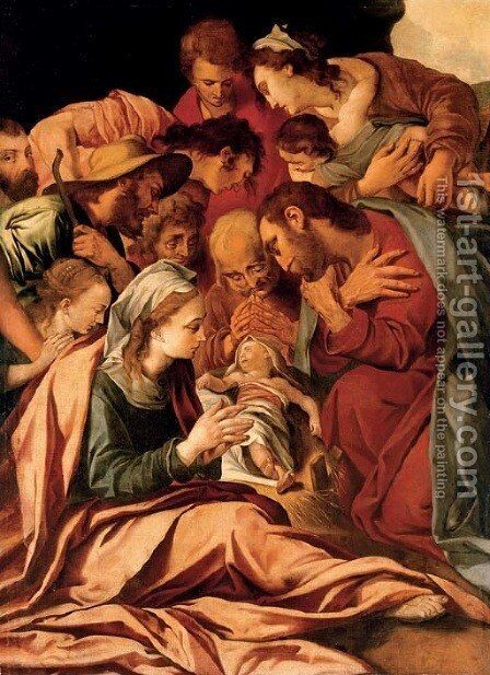 The Adoration of the Magi by Anthonie Blocklandt Montfoort - Reproduction Oil Painting