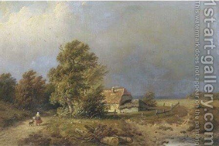 Heading home by Anthonie Jacobus van Wyngaerdt - Reproduction Oil Painting