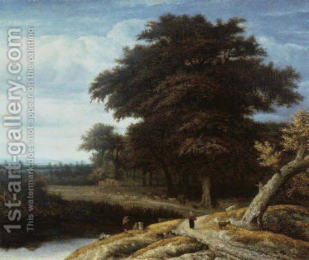 A wooded landscape by Anthonie Van Borssom - Reproduction Oil Painting
