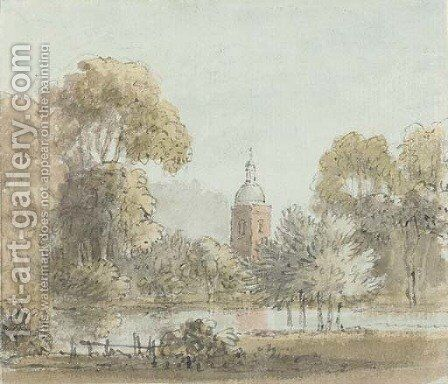 Sunbury on Thames by Anthony Devis - Reproduction Oil Painting