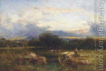 Sunset, Sussex by Anthony Vandyke Copley Fielding - Reproduction Oil Painting